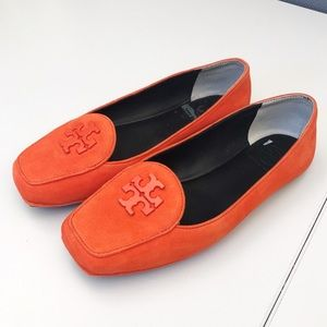 Tory Burch Suede Orange Flats!